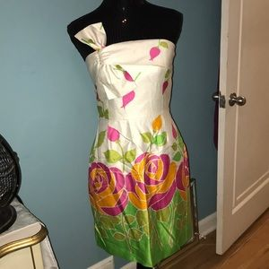 Kate Spade New York cool bow floral roses dress